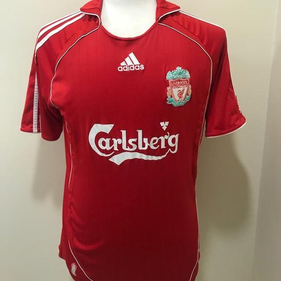 cheaper c77d2 b45cc Adidas Carlsberg Liverpool Futbol Jersey Medium